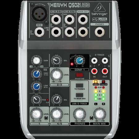 Behringer XENYX Q502USB Analog Mixer with USB