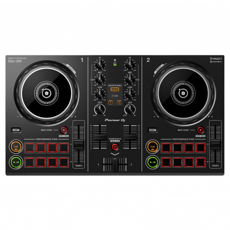 Pioneer DJ DDJ-200 Black | Smart DJ controller