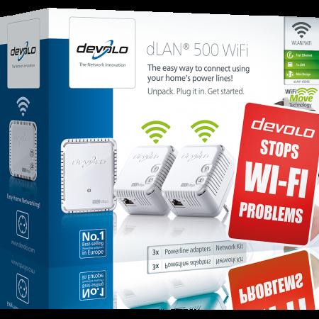 devolo D 9096 dLAN 500 WiFi Network Kit Powerline