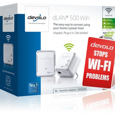 devolo D 9089 dLAN 500 WiFi Starter Kit Powerline