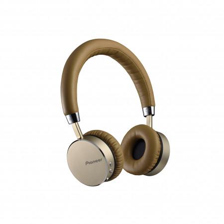 Pioneer SE-MJ561BT-T Bluetooth headphones, brown
