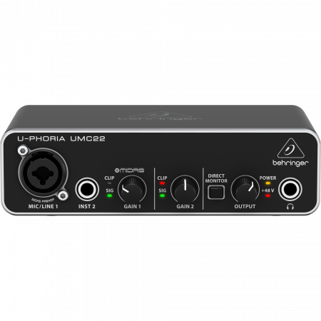 Behringer U-PHORIA UMC22 Computer Audio Interface