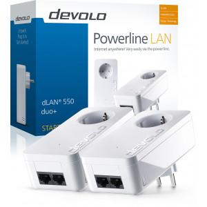 devolo D 9303 dLAN 550 duo+ Starter Kit Powerline