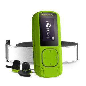 Energy MP3 Clip BT Sport Greenstone MP3 Player with Bluetooth and FM radio