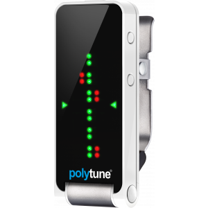 TC Electronic PolyTune Clip Silver Clip-On Polyphonic Tuner